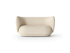 Ferm Living -  Rico 2-seater Brushed - Off-White