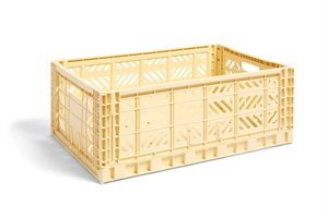 HAY - KASSE - COLOUR CRATE / L LIGHT YELLOW