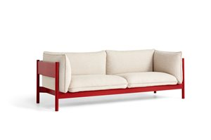 HAY - 3 pers. sofa - Arbour - HALLINGDAL 220 / WINE RED WATER-BASED LACQUERED SOLID BEECH