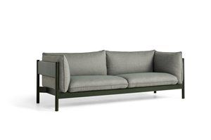 HAY - 3 pers. sofa - Arbour - ATLAS 931 / BOTTLE GREEN WATER-BASED LACQUERED SOLID BEECH