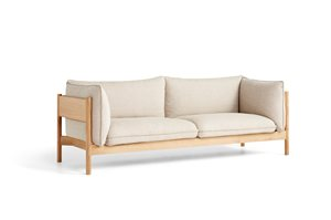 HAY - 3 pers. sofa - Arbour - HALLINGDAL 220 / OILED WAXED SOLID OAK