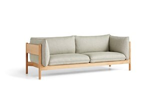 HAY - 3 pers. sofa - Arbour - RE-WOOL 408 / OILED WAXED SOLID OAK
