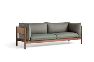 HAY - 3 pers. sofa - Arbour - ATLAS 931 / OILED WAXED SOLID WALNUT