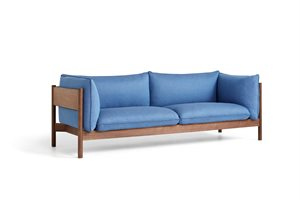 HAY - 3 pers. sofa - Arbour - RE-WOOL 758 / OILED WAXED SOLID WALNUT