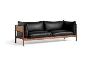 HAY - 3 pers. sofa - Arbour - NEVADA LÆDER NV0500 / OILED WAXED SOLID WALNUT