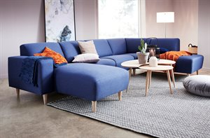 Amalfi u-sofa - Idaho Blue