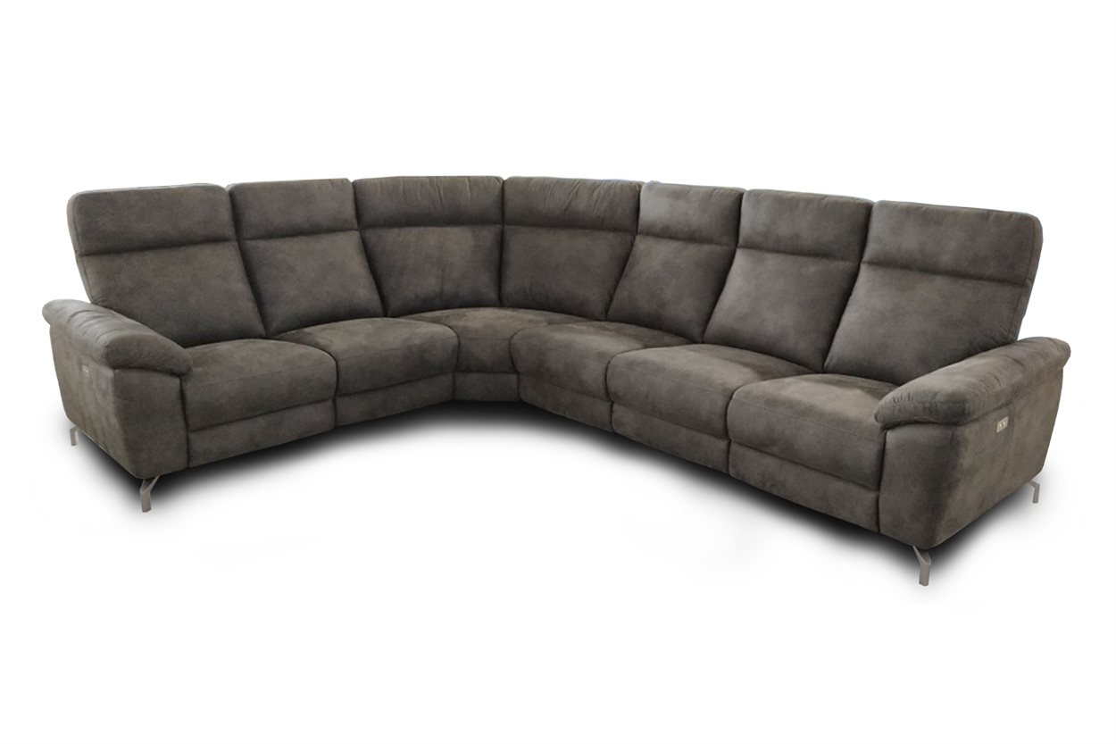 Dallas hjørnesofa med 2 x el-recliner - Model 23