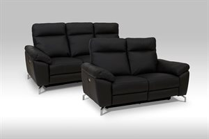 Dallas 3+2 pers. sofa med el-recliner - Læder