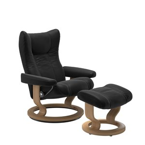 Stressless Wing Classic - Sort
